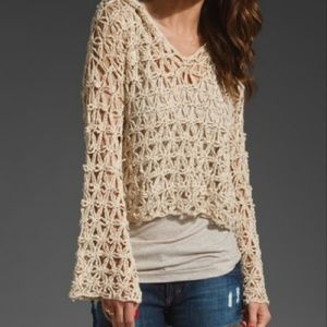 ⭐Free People Star Stitch Crochet Sweater XS